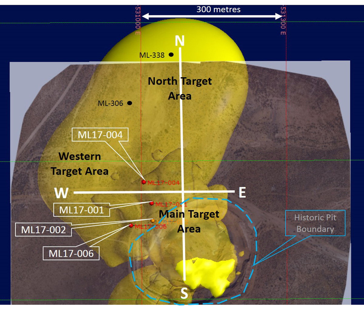 Corvus gold mother lode plan map of mother lode drilling as reported on nov 7 gumiabroncs Image collections