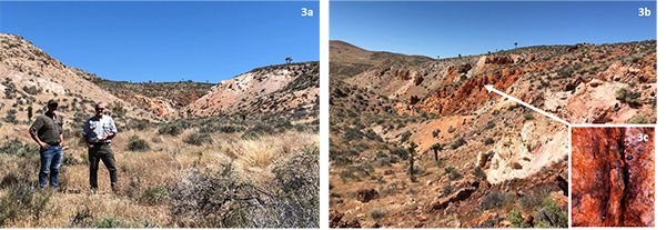 Figure 3 - Photos of Corvus Gold's new Hidden Valley target northeast of AngloGold Ashanti's Silicon project
